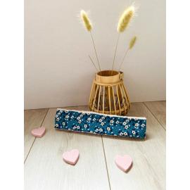 Bandeau cheveux jolies fleurs bleues