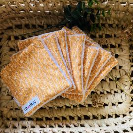 Lingettes démaquillantes lavables géométriques soleil